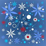 dark blue flowers pattern
