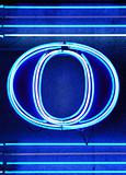 "The letter ""O"" in neon"