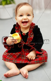 Cute baby with toy