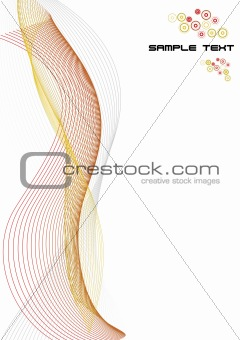 Abstract lines paper template with sample