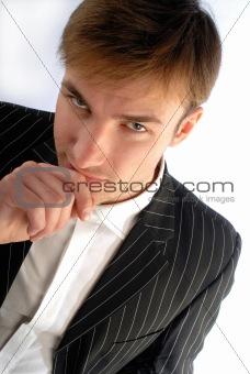 portrait young man, businessman