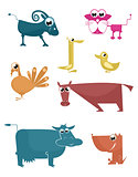 Comic farm animals