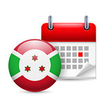 Icon of National Day in Burundi