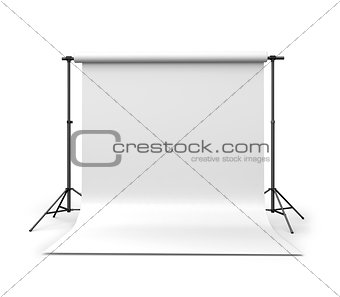 3d Background paper in photo studio