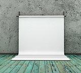 3d Background paper in photo studio