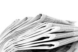 HA newspapers, isolated on white