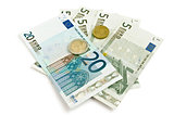 euro and coins