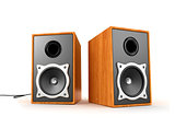 Two audio speakers, 3d