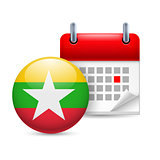 Icon of National Day in Myanmar