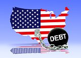 American Map and Debt Ball