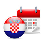 Icon of National Day in Croatia