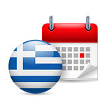Icon of National Day in Greece