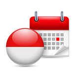 Icon of National Day in Indonesia