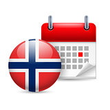 Icon of National Day in Norway