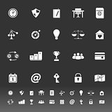 Thinking related icons on gray background