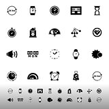 Time related icons on white background