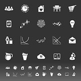 Virtual organization icons on gray background