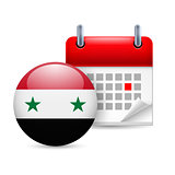 Icon of National Day in Syria