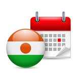 Icon of National Day in Niger
