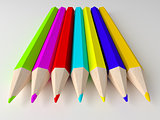 Colorful pencils.