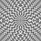 Abstract op art pattern.