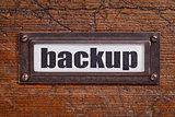 backup - file cabinet label