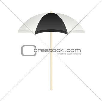 Beach umbrella in black and white design
