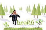 Health against forest with trees