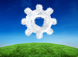 Composite image of cloud cog