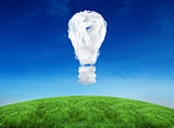 Composite image of cloud light bulb
