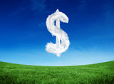 Composite image of cloud dollar