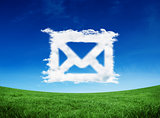 Composite image of cloud email