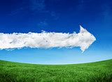 Composite image of cloud arrow