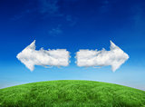 Composite image of cloud arrows