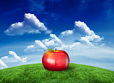 Composite image of red apple