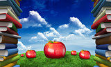 Composite image of red apples