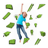 Composite image of school icons