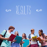 Results against students standing and chatting together