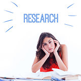 Research against stressed student at desk