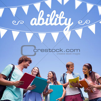Ability against students standing and chatting together