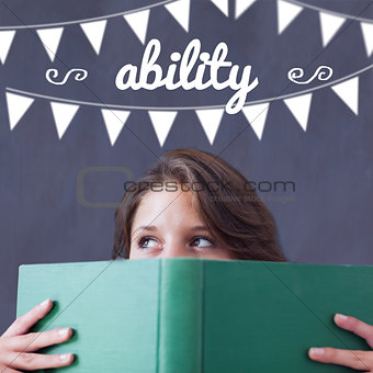 Ability against student holding book