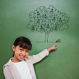 Composite image of idea tree