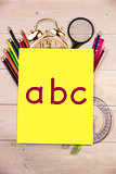Composite image of abc
