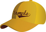 Blank Yellow Baseball Cap on white ground