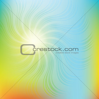 abstract swirl vector colorful background