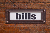 bills - file cabinet label