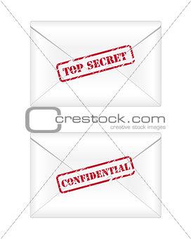Top secret and confidential envelopes