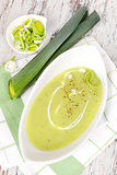 Delicious leek spoup.