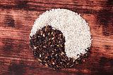 Yin Yang rice.