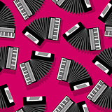 Accordion seamless pattern